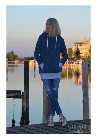 Hoodie blauer Steppsweat3